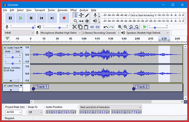 Compress audio with Audacity